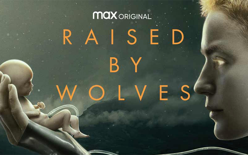 Il poster di Raised by wolves
