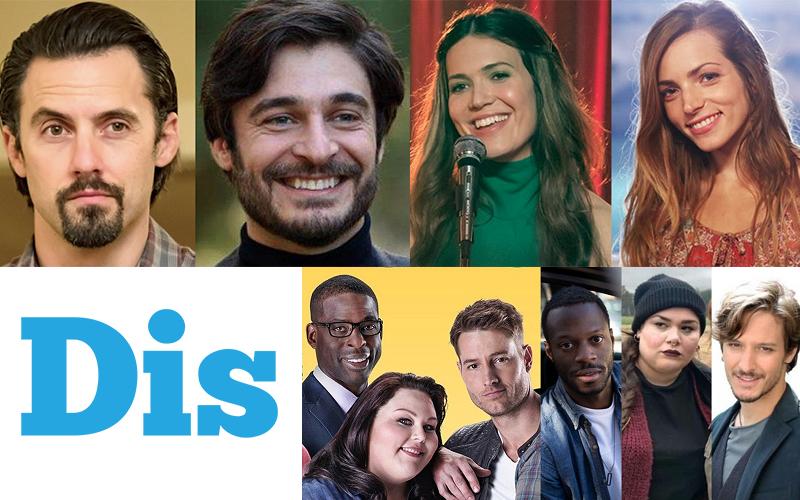 Un collage con i protagonisti di This is us e del remake italiano, Noi, in uscita nel 2022 sulla Rai