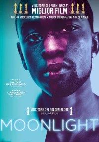 La locandina di Moonlight, film a tema lgbt su un ragazzo nero, povero e omosessuale