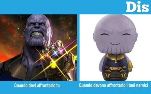 Thanos in Infinity War vs Thanos nell'episodio di T'challa/Star Lord