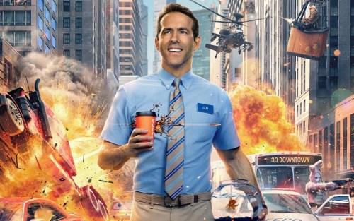 Locandina del nuovo film di Free guy con Ryan Reynolds