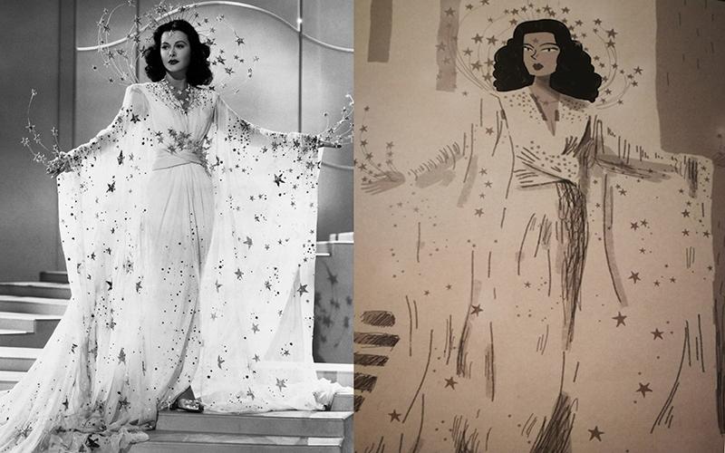 Hedy Lamarr fumetto vs la vera Hedy