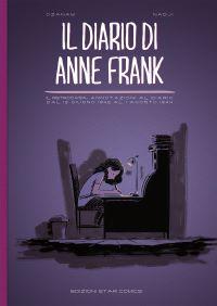 La copertina del fumetto su Anne Frank