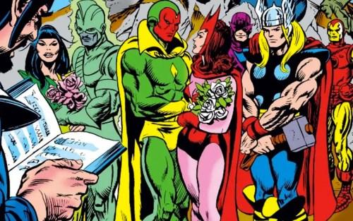 Il matrimonio tra Wanda e Visione nei fumetti