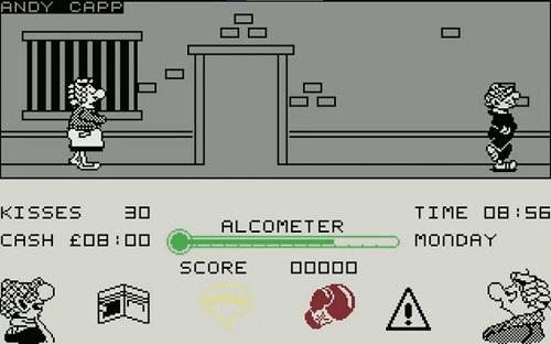 Schermata di gioco di Andy Capp