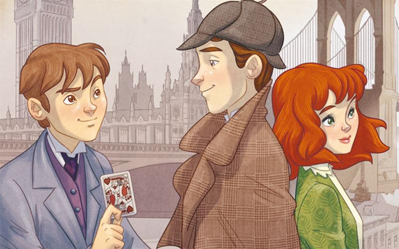 Lupin, Sherlock e Irene Adler in una delle copertine di Sherlock, Lupin & io