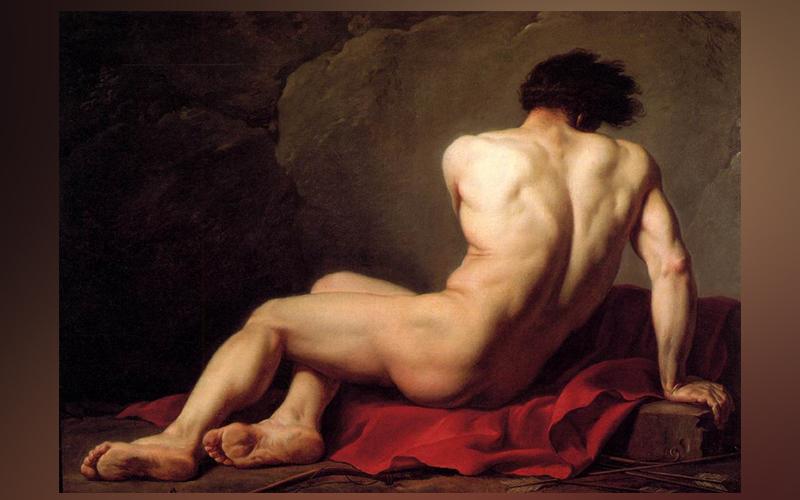 Il dipinto di Jacques-Louis David su Patroclo, protagonista di La canzone di Achille di Madeline Miller