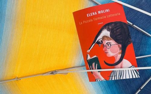 La copertina di La piccola farmacia letteraria, di Elena Molini, nella composizione di Silvia Liotta