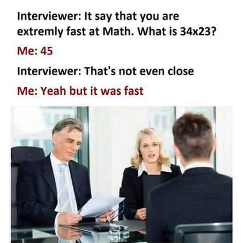 Un celebre meme sulla velocità di calcolo