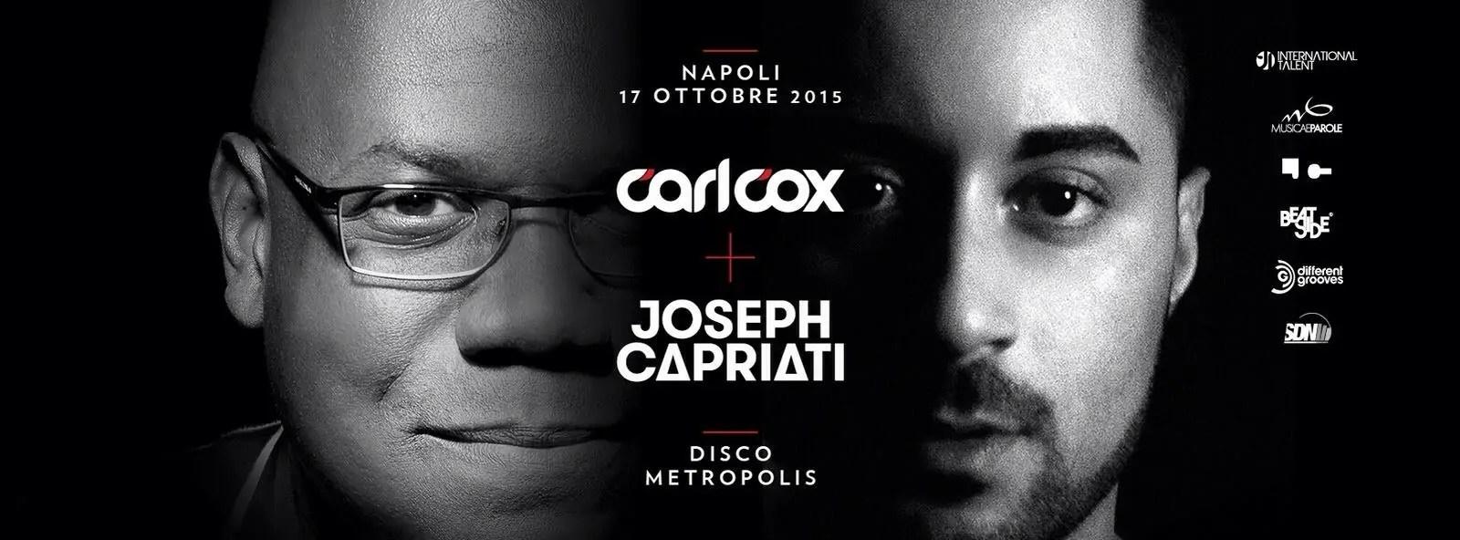 CARL COX JOSEPH CAPRIATI METROPOLIS NAPOLI 17 10 2015
