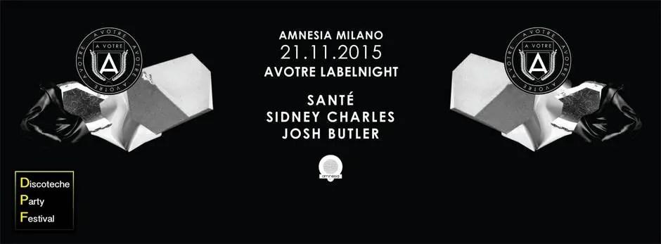 Amnesia Milano 21 11 2015 Sante Sidney Charles