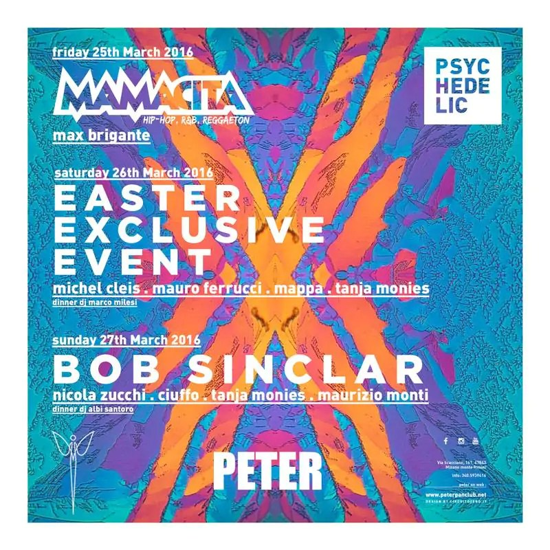 Pasqua 2016 Peter Pan Bob Sinclair