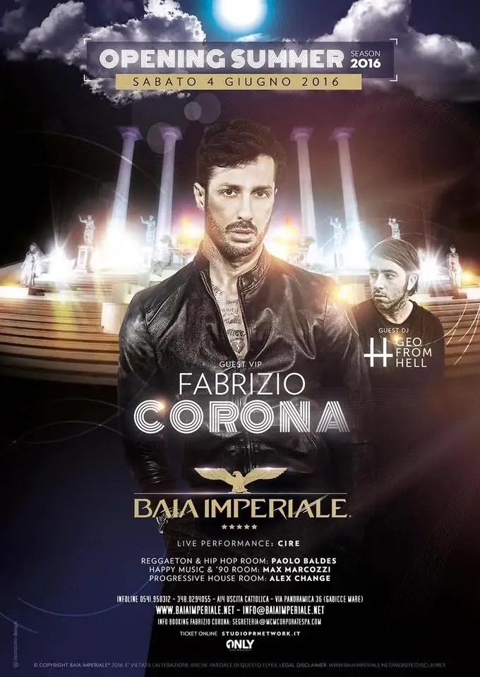 Baia Imperiale 01 Giugno 2016 Fabrizio Corona