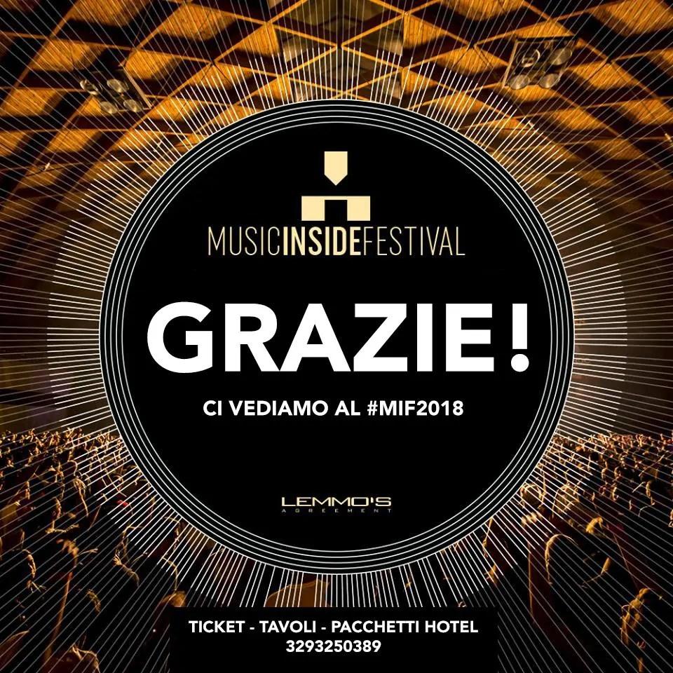 MIF MUSIC INSIDE FESTIVAL 2018 RIMINI FIERA MAGGIO 2018 PREZZI BIGLIETTI PACCHETTI HOTEL