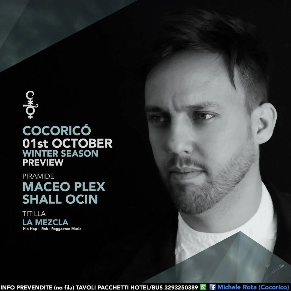 Cocorico Maceo Plex 01 Ottobre 2016