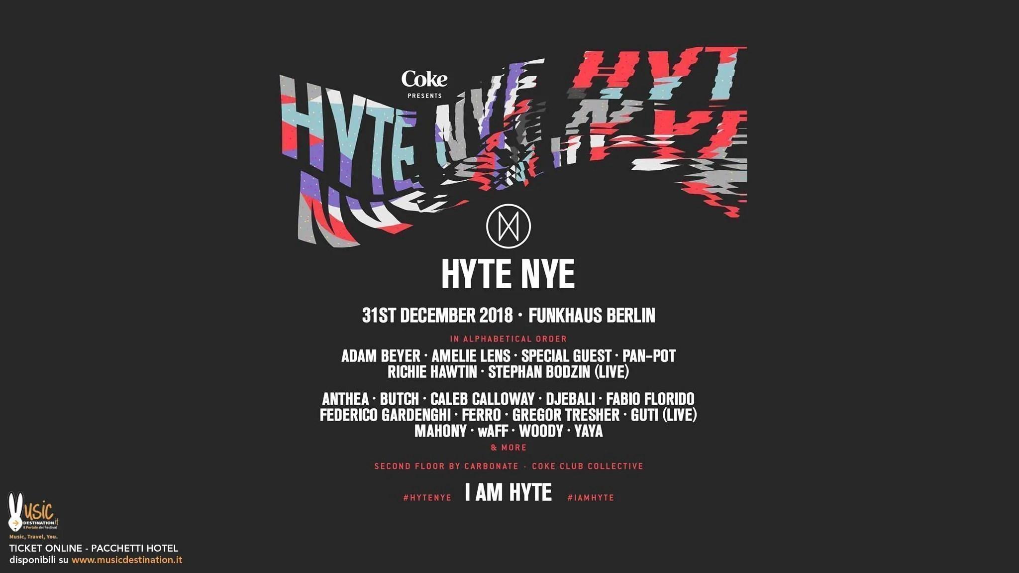 Hyte Berlin NYE 2018/2019 Funkhaus Berlino 31 12 2018 | Ticket + Biglietti + Hotel + Viaggio