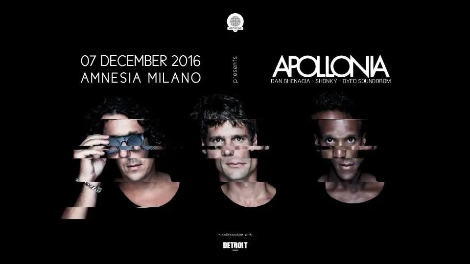 AMNESIA MILANO APOLLONIA 07.12.2016 Prezzi Ticket Hotel Bus