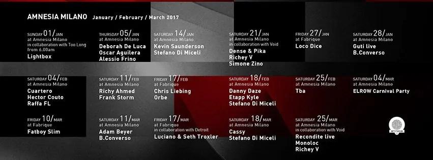 AMNESIA MILANO RICKY AHMED 11 02 2017 Prezzi PREVENDITE PACCHETTI Hotel Bus