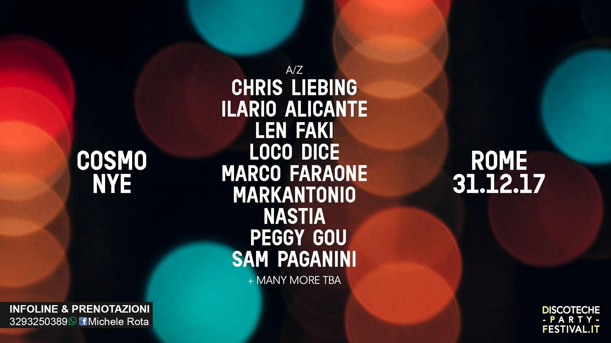 COSMO FESTIVAL CAPODANNO 2019 ROMA EUR 31 12 2018 + PREZZI PREVENDITE BIGLIETTI + PACCHETTI HOTEL PULLMAN