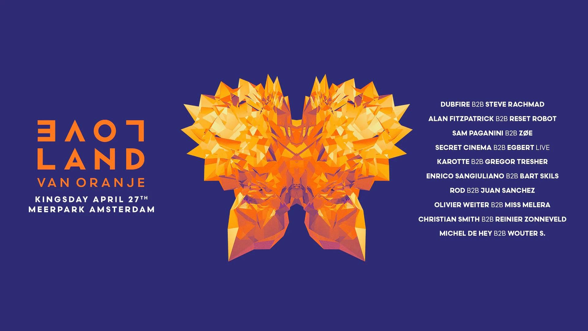Loveland Van Oranje 2017 Amsterdam 27 Aprile Ticket E Pacchetti