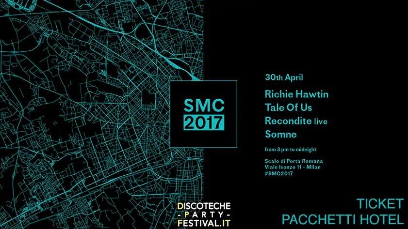 SOCIAL MUSIC CITY 30 APRILE 2017 RICHIE HAWTIN LINEUP TICKET BIGLIETTI PREVENDITE PACCHETTI HOTEL BUS