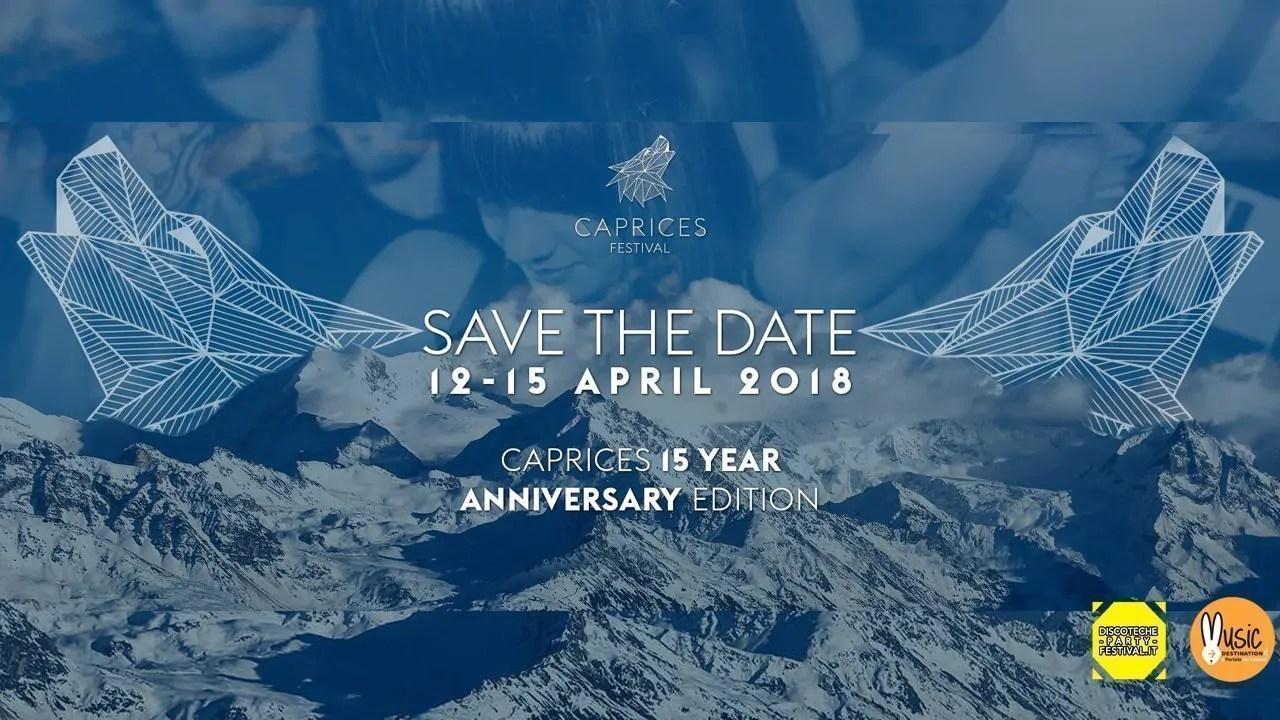 CAPRICES FESTIVAL 2018 dal 12 al 15 Aprile –  Crans Montana Svizzera |  Lineup Prezzi Ticket Biglietti Pacchetti Hotel