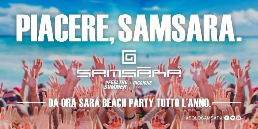 Samsara Beach Riccione Apertura il 01 Giugno 2017 Summer Season Party