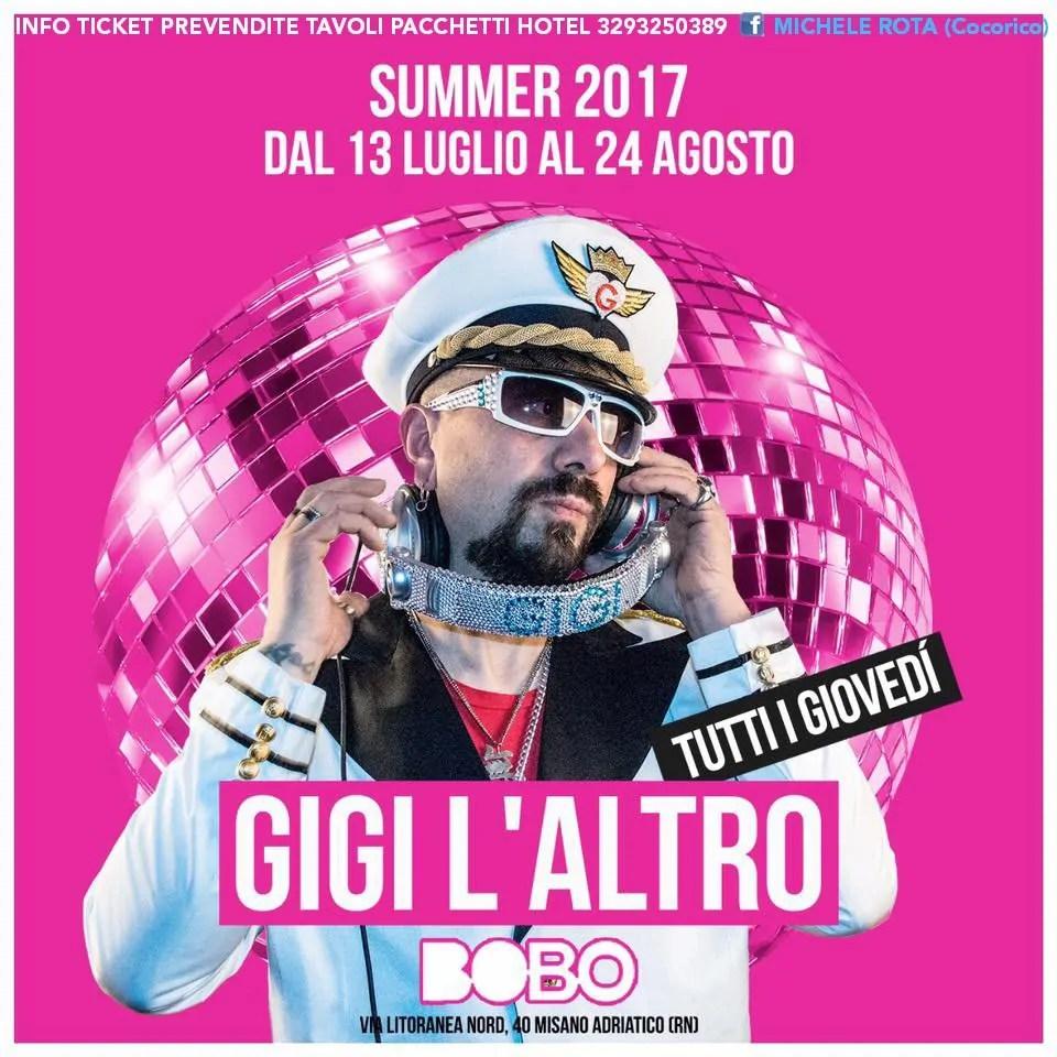 Gigi L'altro Show Bobo Beach Kiavatar 2017