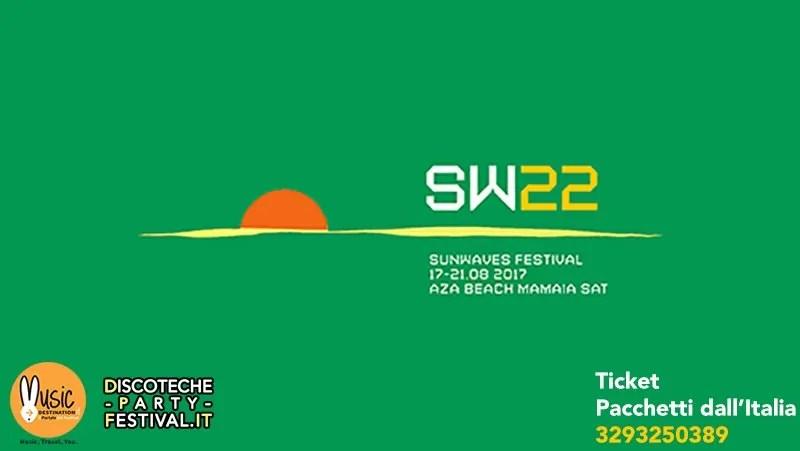 SUNWAVES 2017 Festival 17-21 Agosto 2017 MAMAIA ROMANIA SW22 + Lineup Prezzi Ticket Biglietti Pacchetti Dall'italia Hotel + Viaggio Volo