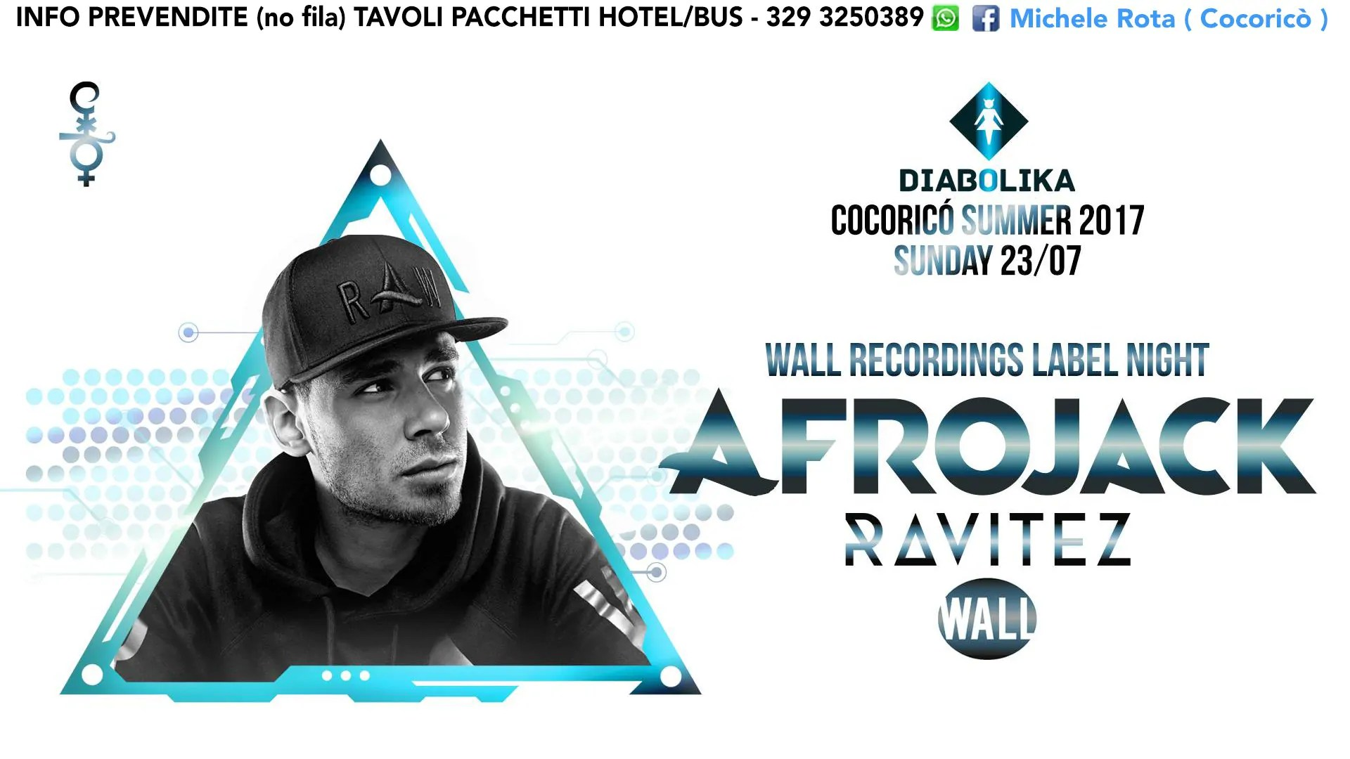 Afrojack Cocorico Riccione 23 Luglio 2017 Ticket Tavoli Pacchetti Hotel