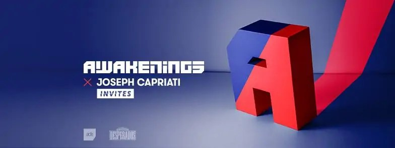 21 10 2017 Awakenings Festival Joseph Capriati Invites + Ticket + Hotel