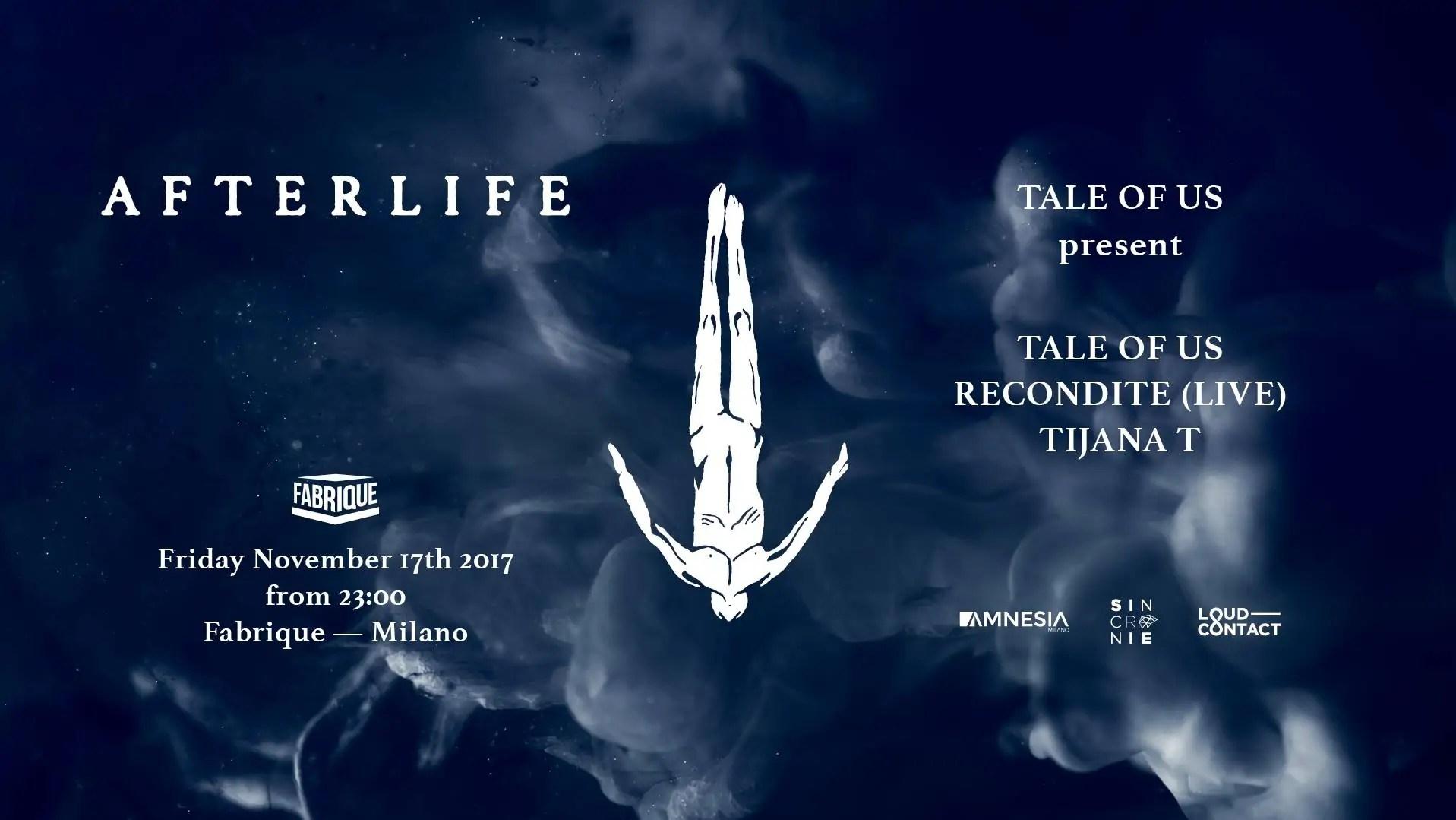 AfterLife – Fabrique Milano – 17 Novembre 2017
