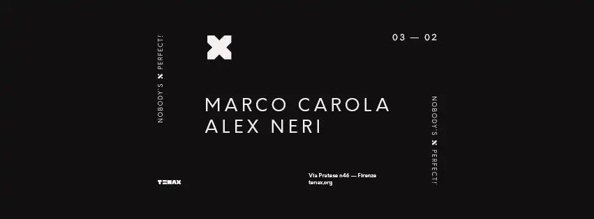 Marco Carola Tenax Firenze 2018