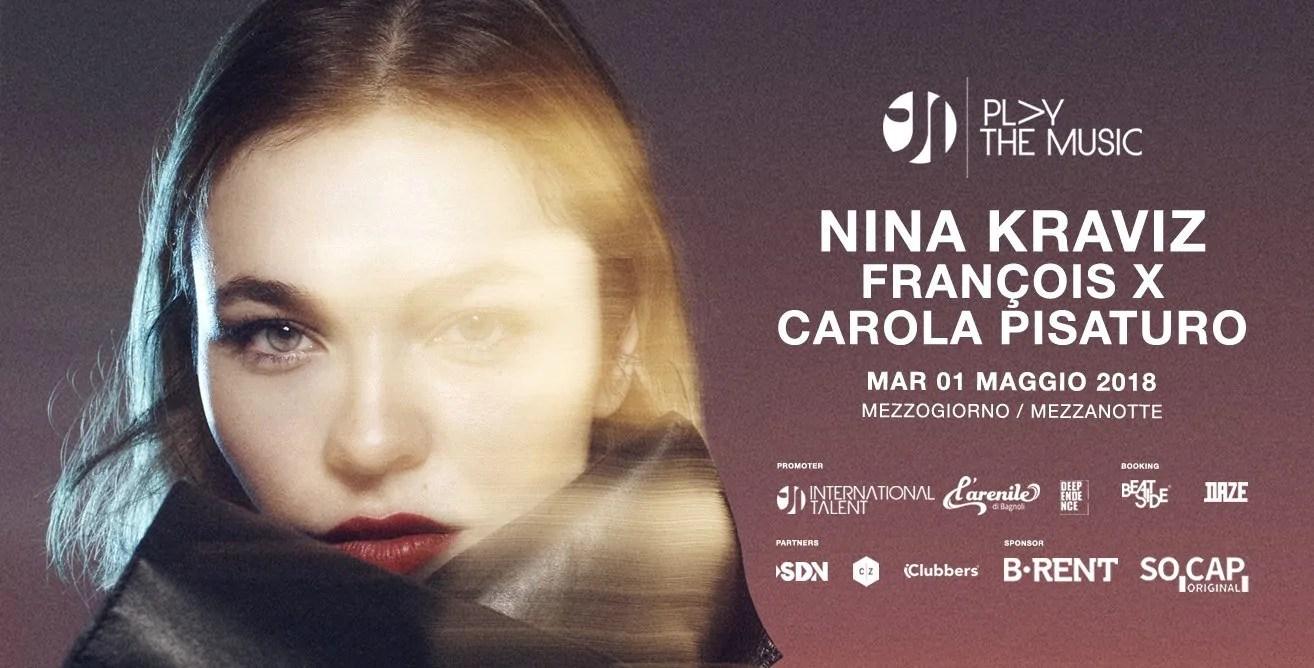 Nina Kraviz @ Arenile Bagnoli Napoli 01 Maggio 2018 Play The Music + Prezzi Ticket in Prevendita Biglietti Tavoli Liste Pacchetti Hotel