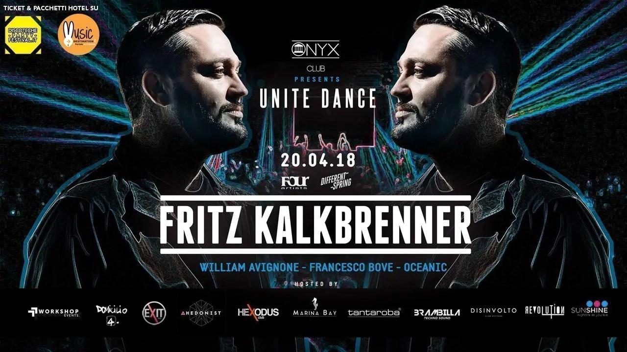 FRITZ KALKBRENNER at ONIX CLUB RAVENNA SABATO 20 04 2018 + PREZZI PREVENDITE Ticket BIGLIETTI TAVOLI + PULLMAN