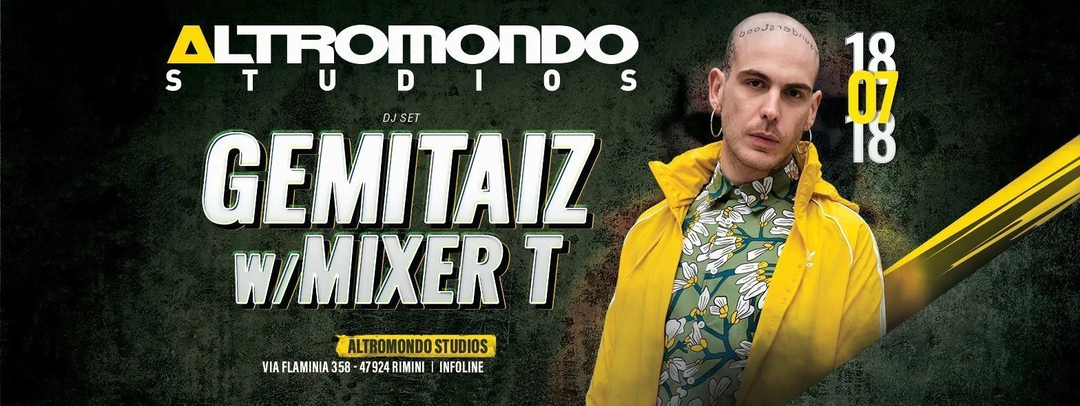 Gemitaiz Altromondo Studios 18 Luglio 2018 Ticket Pacchetti Hotel