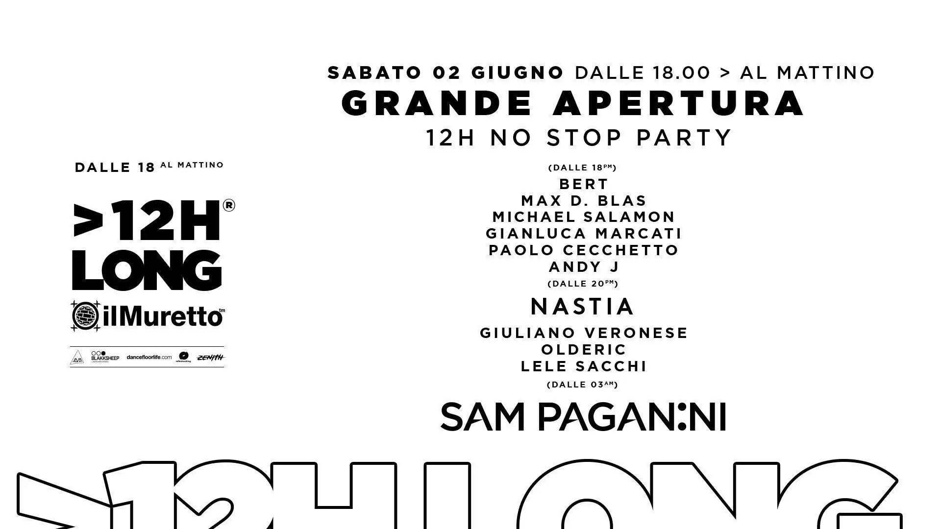 Il MURETTO JESOLO – Opening Party – 02 Giugno 2018 | Ticket Tavoli Pacchetti hotel Prevendite