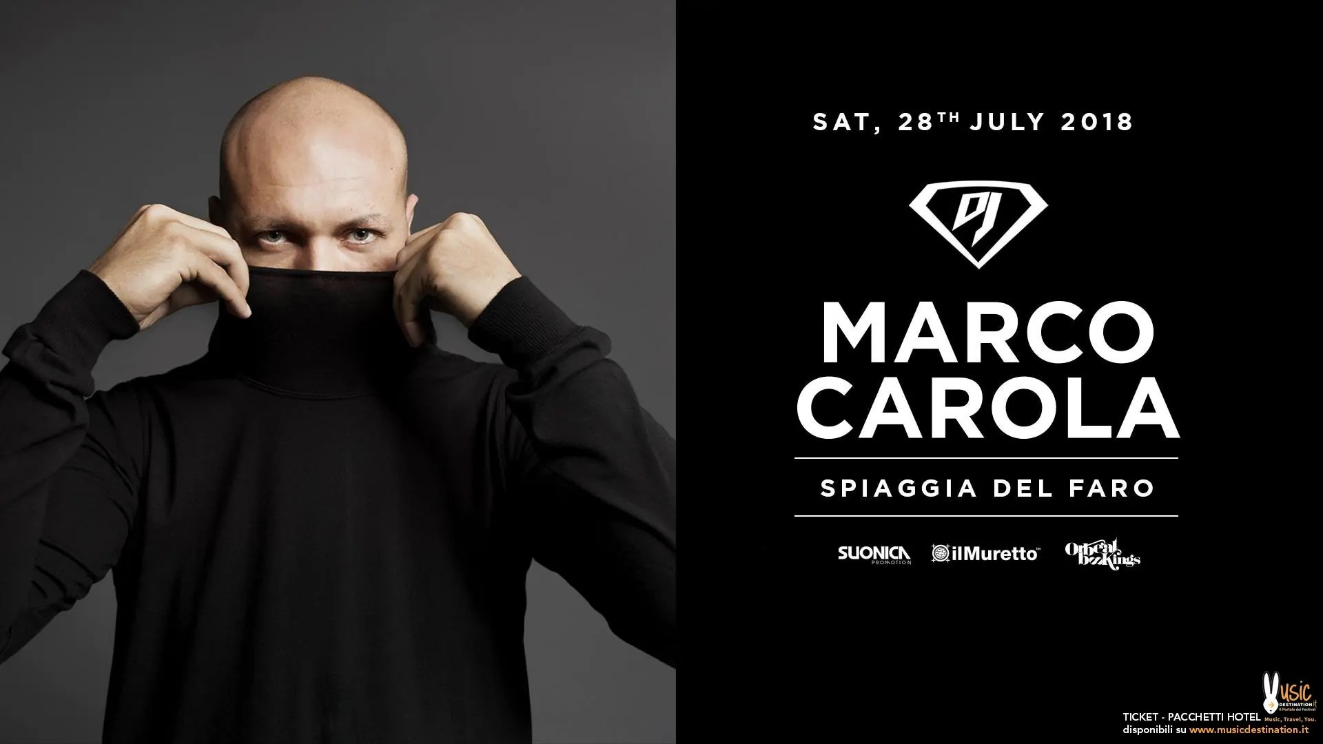 Marco Carola – Spiaggia del Faro Jesolo – 28 Luglio 2018 | Ticket Tavoli Pacchetti hotel Prevendite