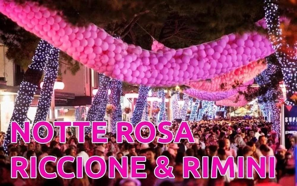 Notte Rosa 2020 Riccione Rimini Data Eventi Programma Concerti Hotel Convenzionati