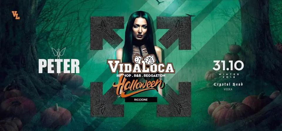 Halloween Peter Pan Riccione Vida Loca 31 Ottobre 2018 + Prezzi Ticket in Prevendita Biglietti Tavoli Liste Pacchetti Hotel