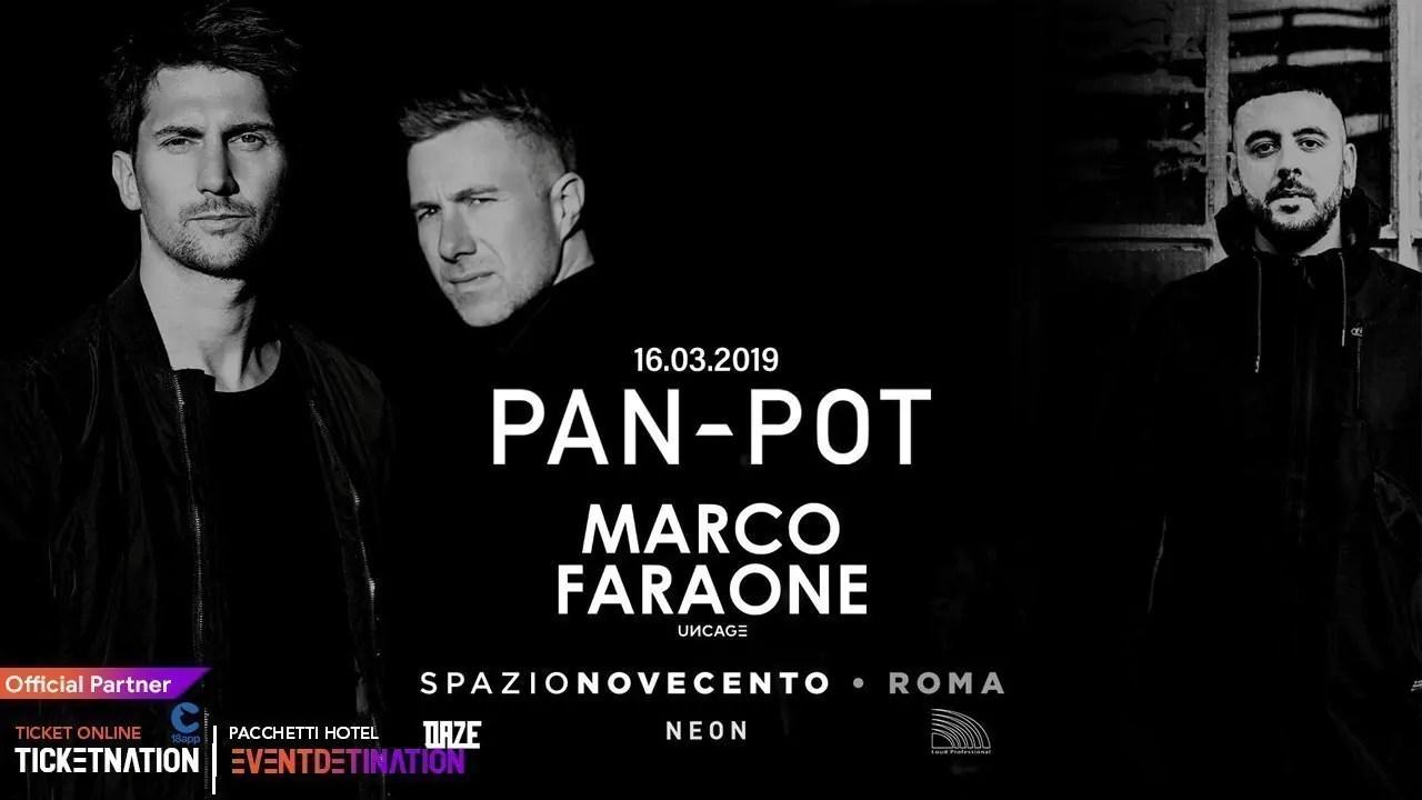 Pan Pot at Spazio Novecento Roma – Sabato 16 Marzo 2019 | Ticket/Biglietti/Prevendite 18APP Tavoli Pacchetti hotel Prevendite