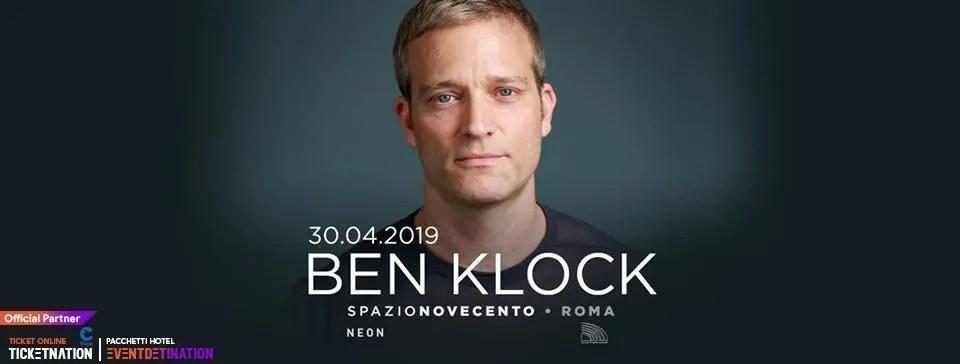 Ben Klock at Spazio Novecento Roma – Martedì 30 Aprile 2019   Ticket/Biglietti/Prevendite 18APP Tavoli Pacchetti hotel Prevendite
