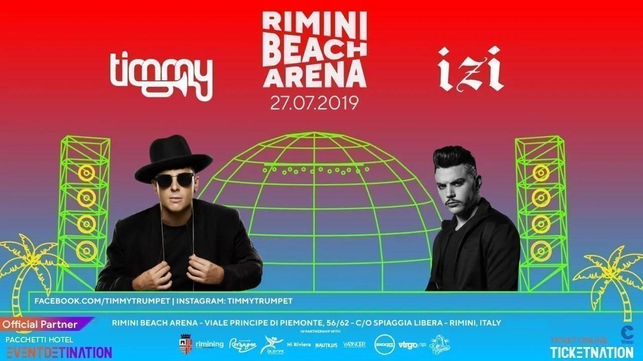Timmy Trumpet + Izi Beach Arena Rimini Sabato 27 Luglio 2019 + Prezzi Ticket/Biglietti/Prevendite 18APP Tavoli Pacchetti hotel
