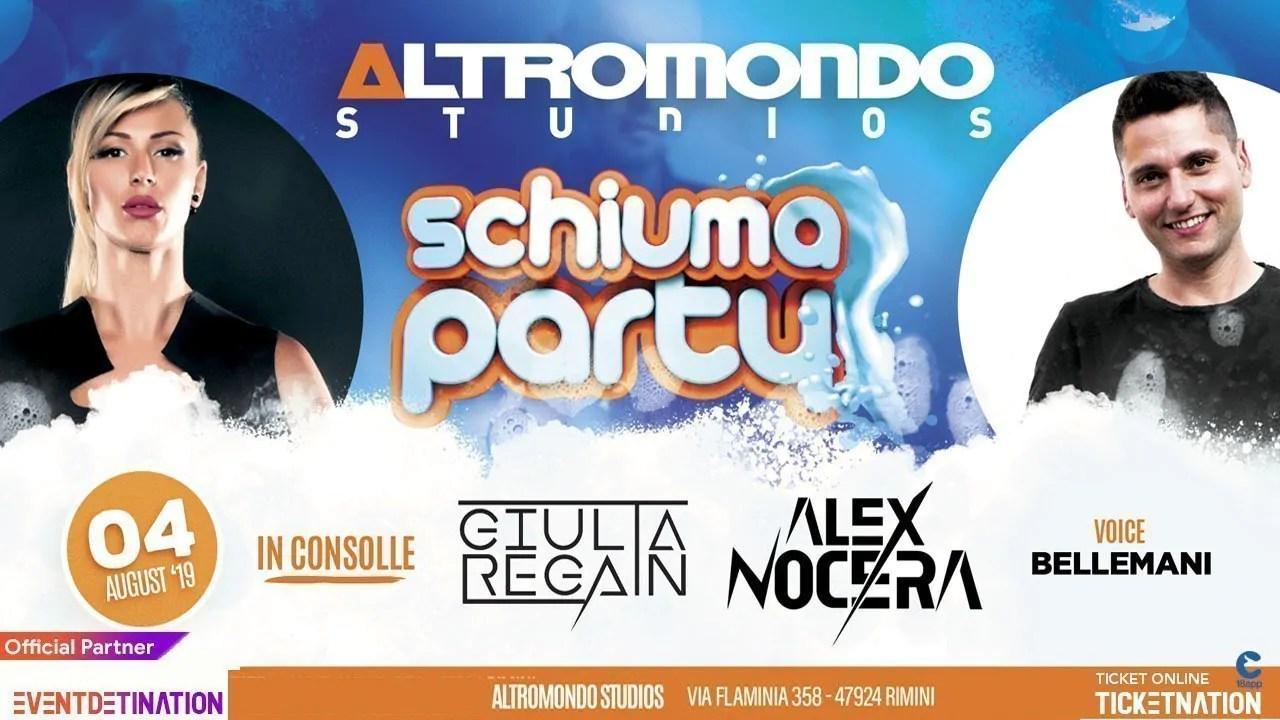 Domenica 04 08 2019 Schiuma Party Altromondo Studios Rimini + Prezzi Ticket/Biglietti/Prevendite 18APP Tavoli Pacchetti Hotel