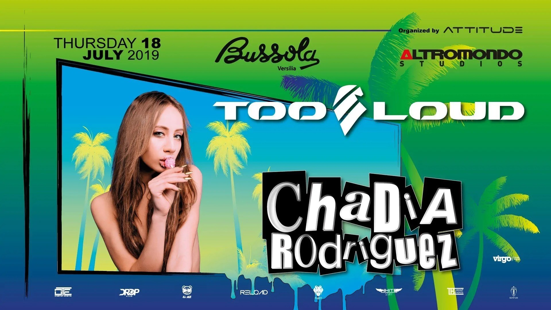 Chadia Rodriguez alla Bussola Club Versilia Giovedì 18 Luglio 2019 + Prezzi Ticket in Prevendita Biglietti Tavoli Liste Pacchetti Hotel
