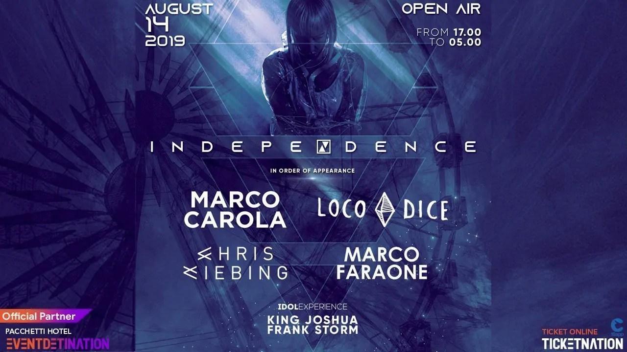 Marco Carola Loco Dice Chris Liebing Rimini Summer Beach Arena – Mercoledì 14 Agosto 2019 + Prezzi Ticket/Biglietti/Prevendite 18APP Tavoli Pacchetti hotel