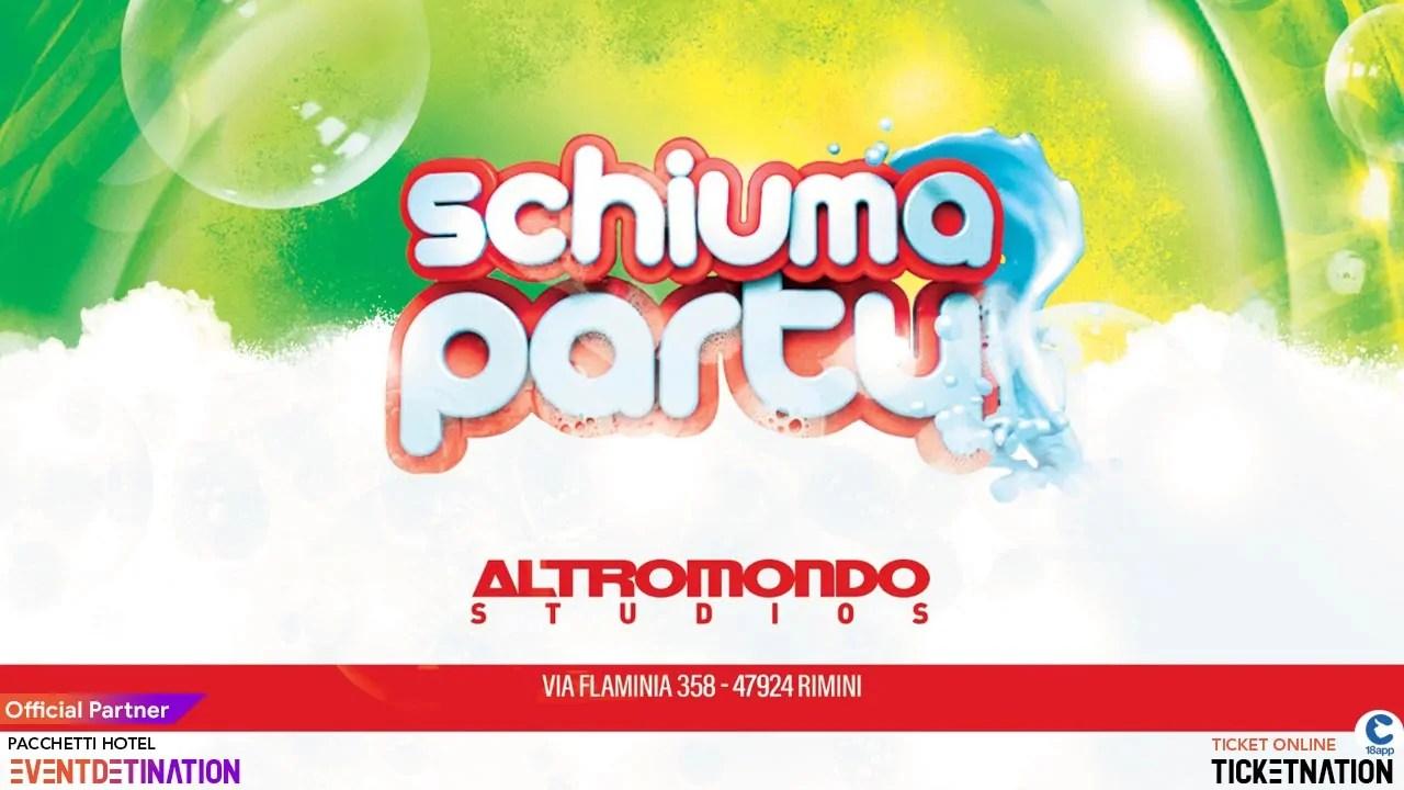 Mercoledì 07 08 2019 Altromondo Studios Rimini Schiuma Party + Prezzi Ticket/Biglietti/Prevendite 18APP Tavoli Pacchetti hotel