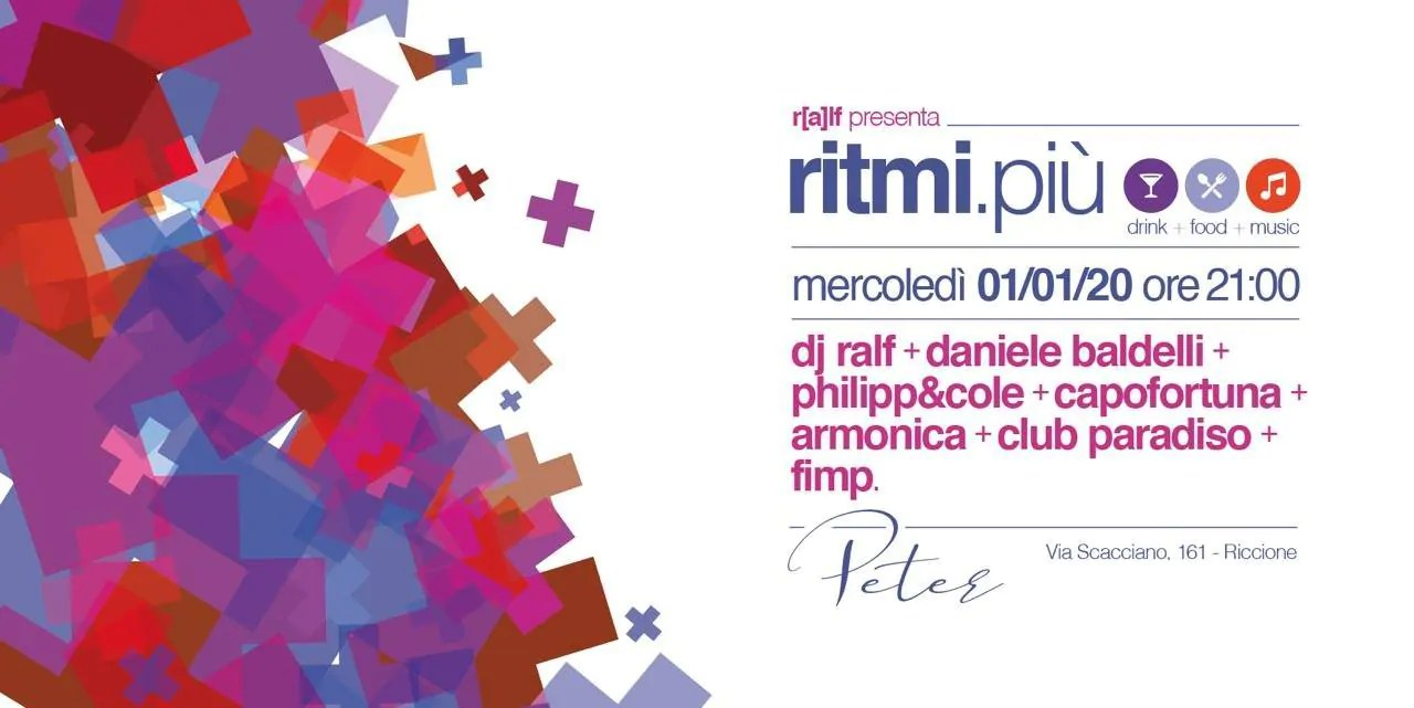 Peter Pan Riccione 01 01 2020 DJ RALF presenta Ritmi