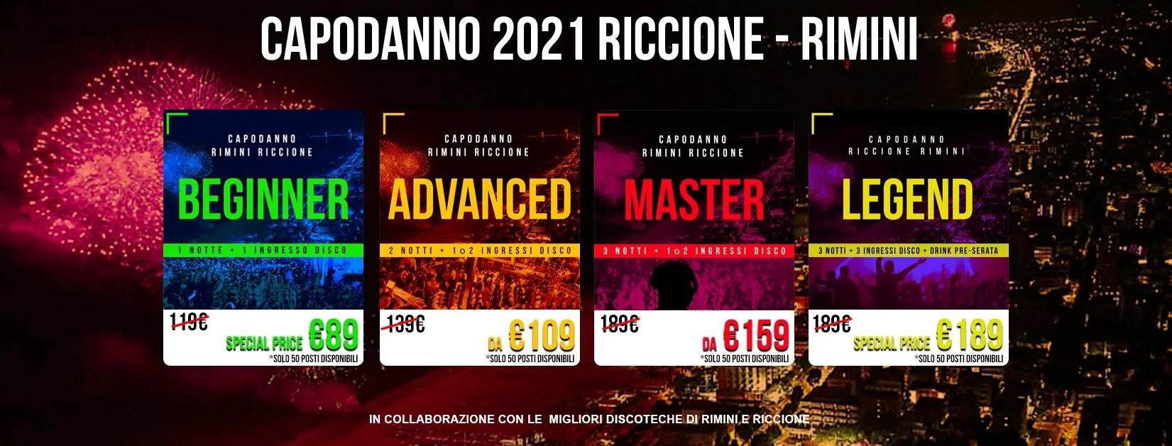 Capodanno 2021 Riccione Rimini Hotel Discoteche Cop