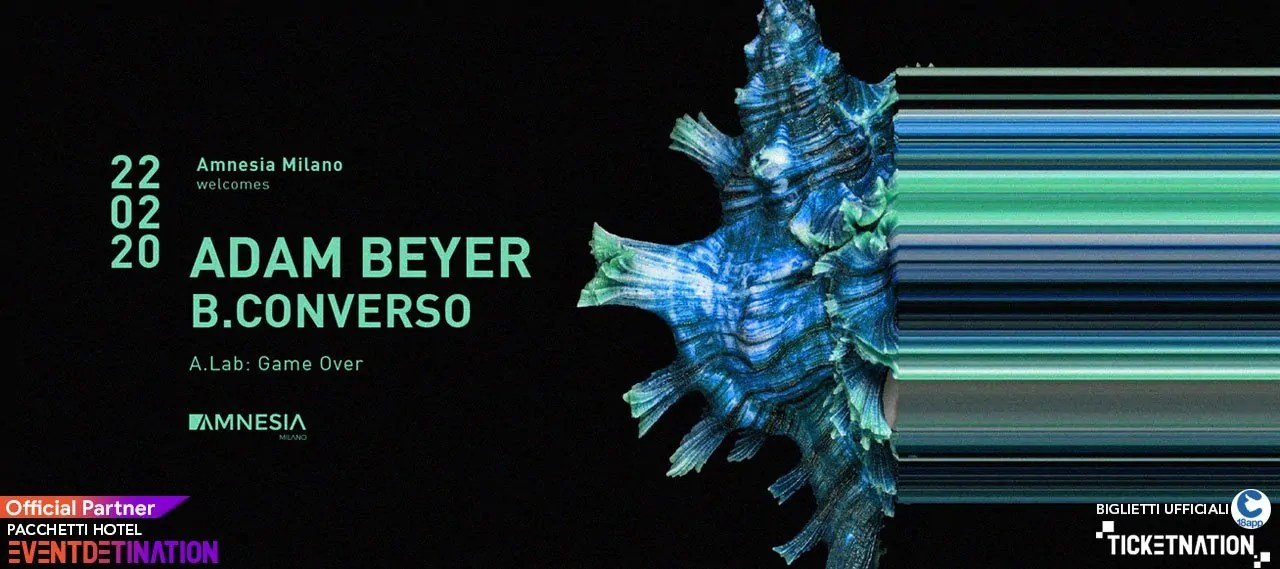 Adam Beyer Amnesia Milano – 22 Febbraio 2020